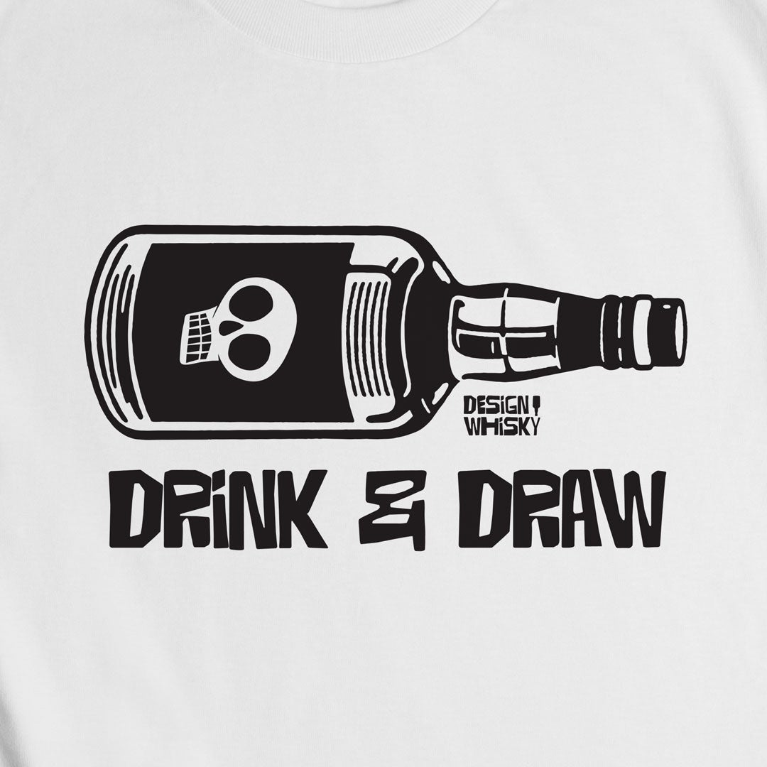 Drink and Draw White T-shirt