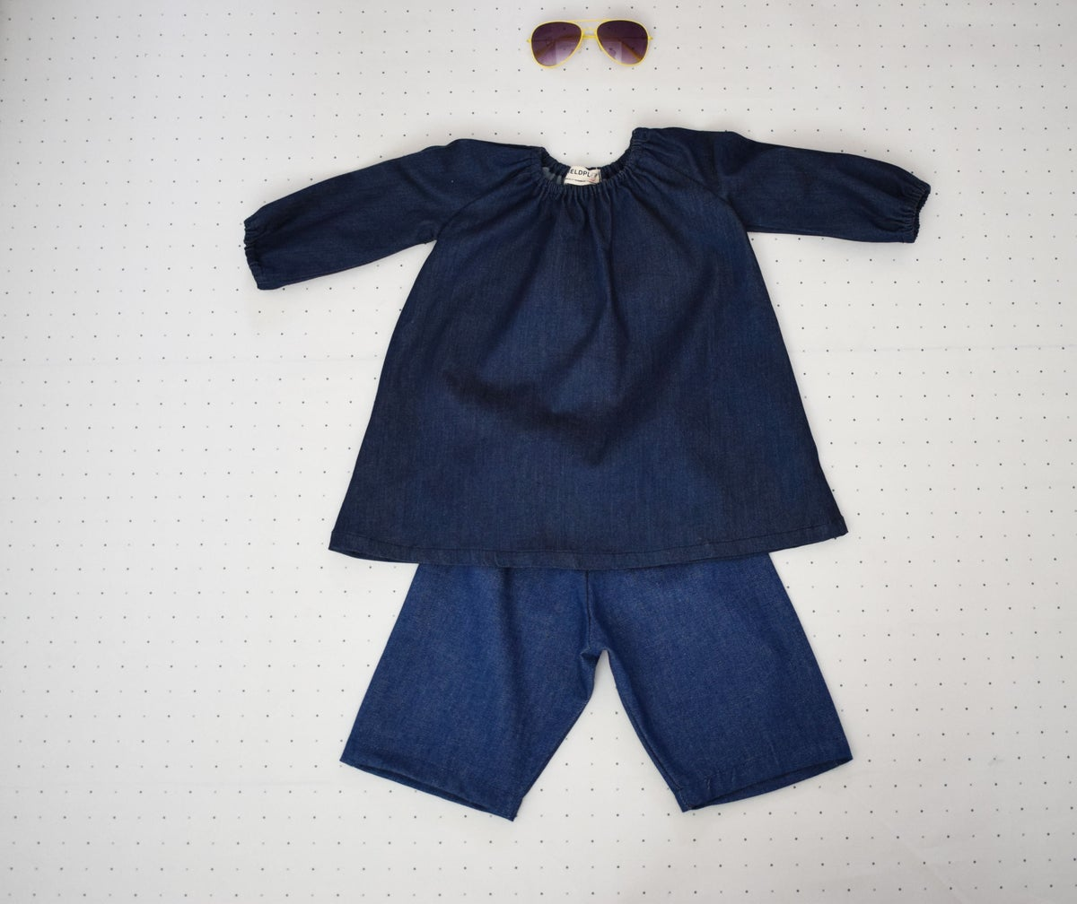 Image of DENIM SMOCK DRESS