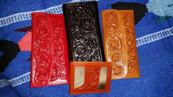 Image of Hand tooled wallets
