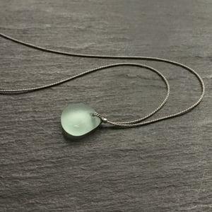 Image of Aqua sea glass necklace - Covehithe