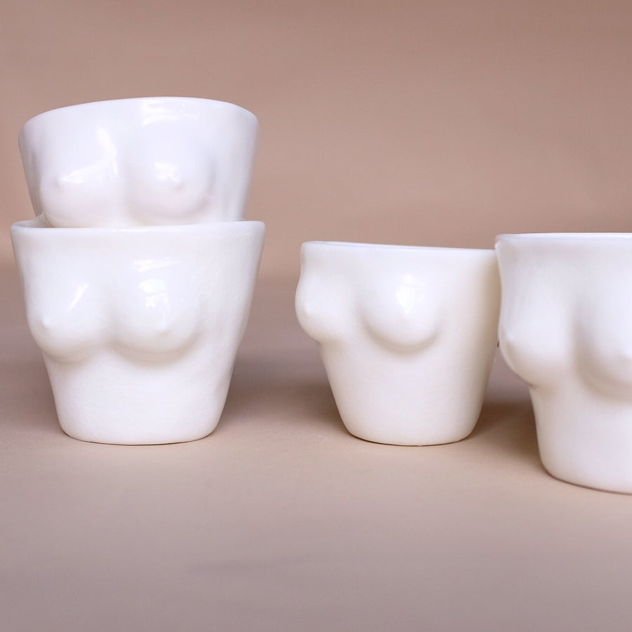 Image of Espresso cups translucent porcelain