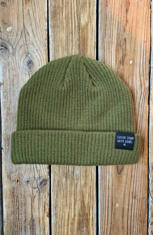 Image of Surfin' Spoon Beanie - Army Green
