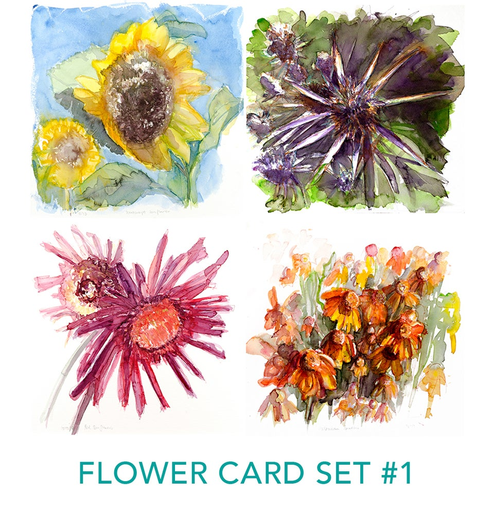Image of Flower Card Sets by Isabel
