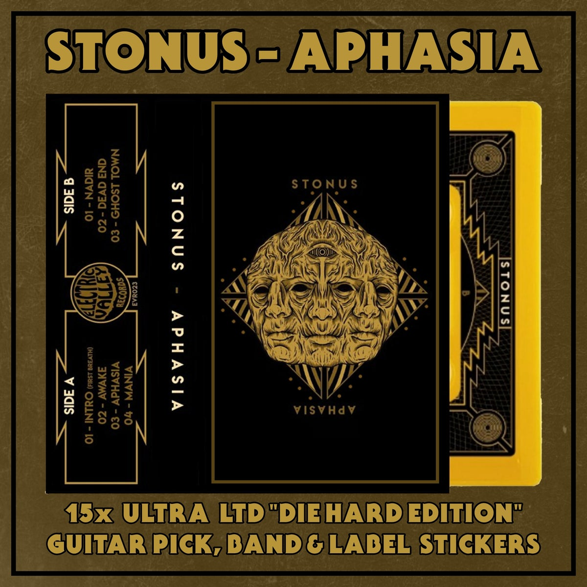 "Image of STONUS - APHASIA Ultra LTD ""Die Hard Edition"" cassette"