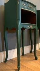 Image 2 of A pair Of French dark green side tables