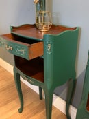 Image 5 of A pair Of French dark green side tables