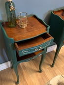 Image 4 of A pair Of French dark green side tables