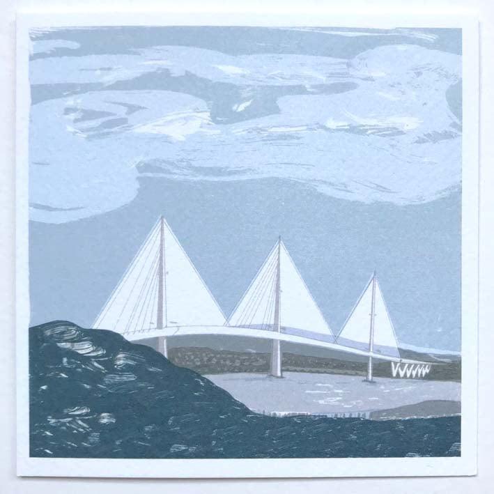 Image of Square Greetings cards ~ Edinburgh selection 03