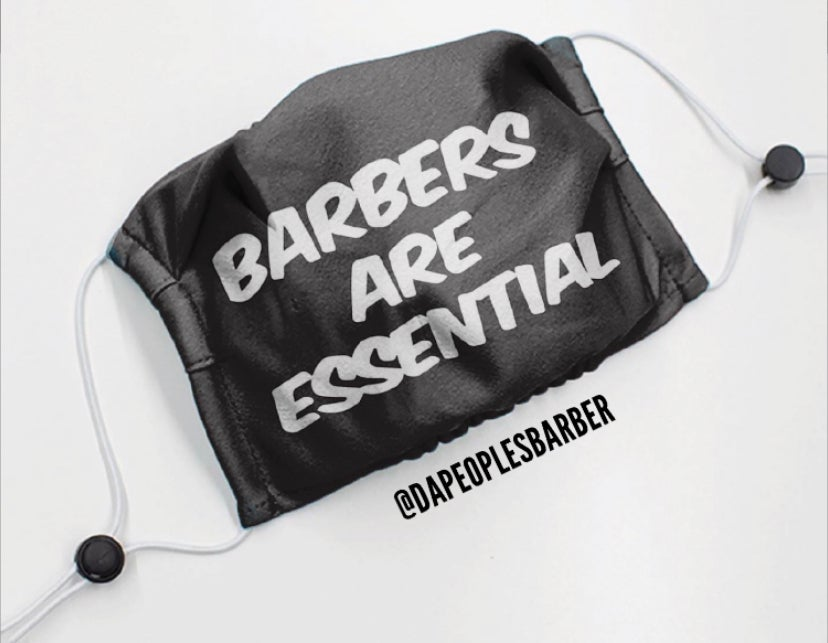 """Image of """"Barbers are Essential"""" Anti-Virus Protector Mask"""
