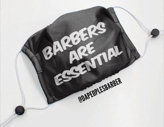 "Image of ""Barbers are Essential"" Anti-Virus Protector Mask"
