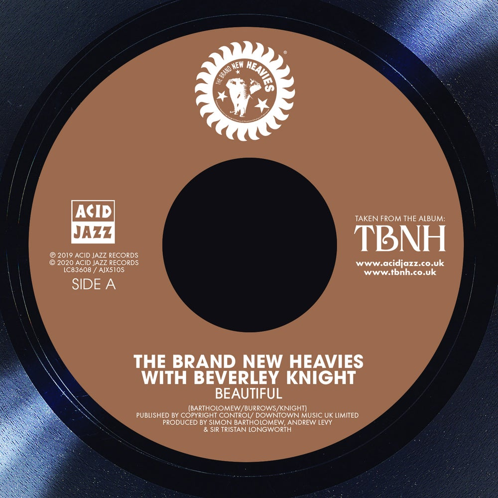 "Image of The Brand New Heavies - Beautiful / Getaway 7"" Single"