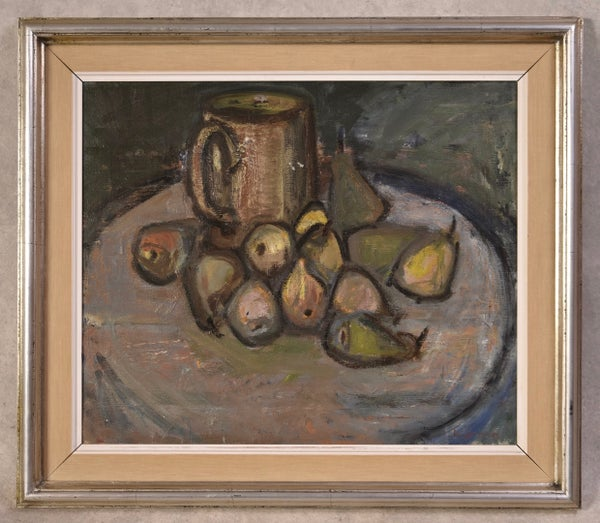 Image of Mid-Century Swedish Painting, 'Pears.'