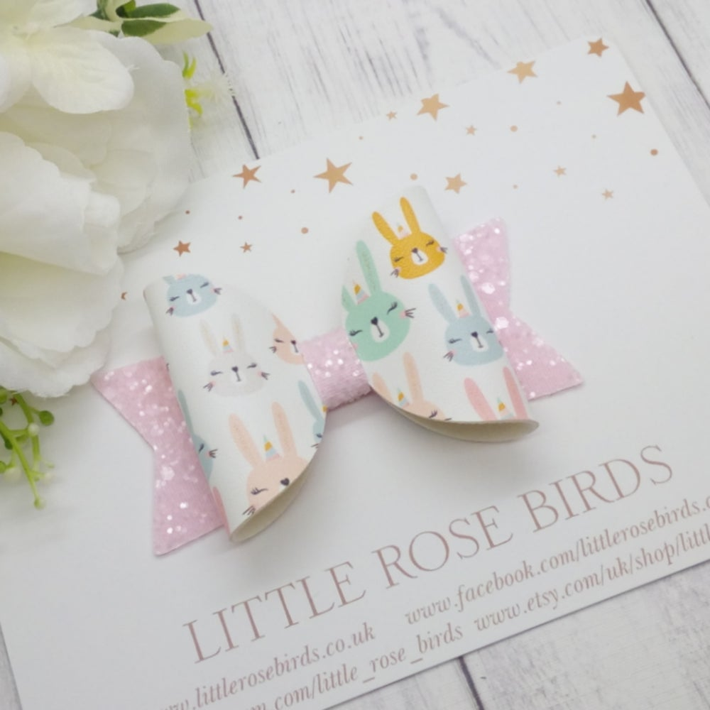 Image of Some Bunnies Bow - Choice of Headband or Clip