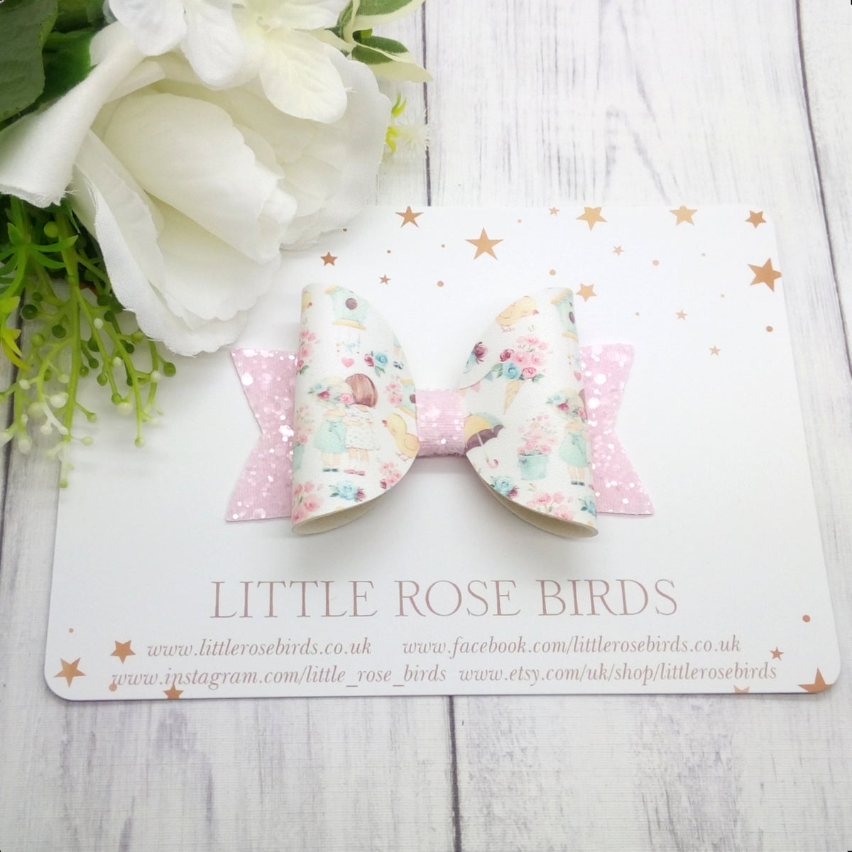 Image of Best Friends Bow - Choice of Headband or Clip