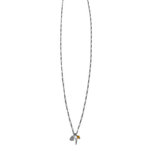 Image of Silver Claw & Kria Tag Trinket Necklace with Bead