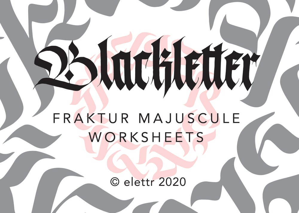 Image of Blackletter Majuscule Worksheets