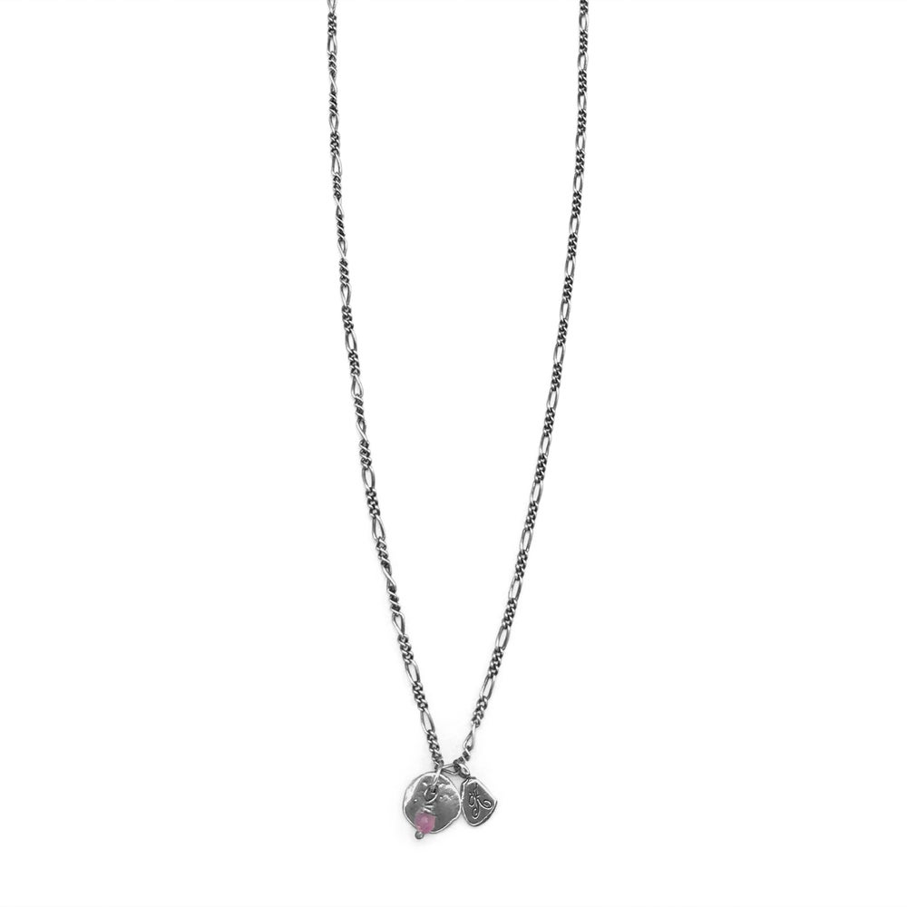 Image of Silver Maine Rock & Kria Tag Trinket Necklace with Bead