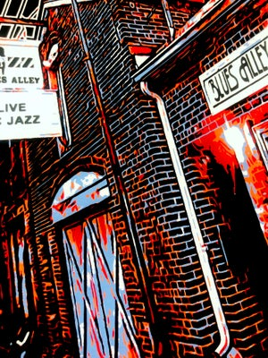 "Image of Blues Alley Giclée Art Print - 11"" x 14"""