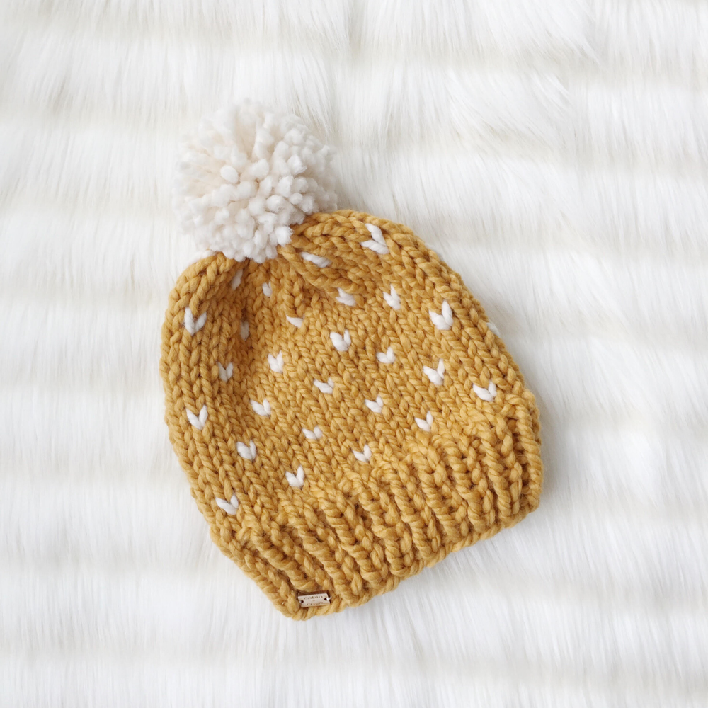 Image of Sweetheart Beanie Knitting Pattern PDF Download