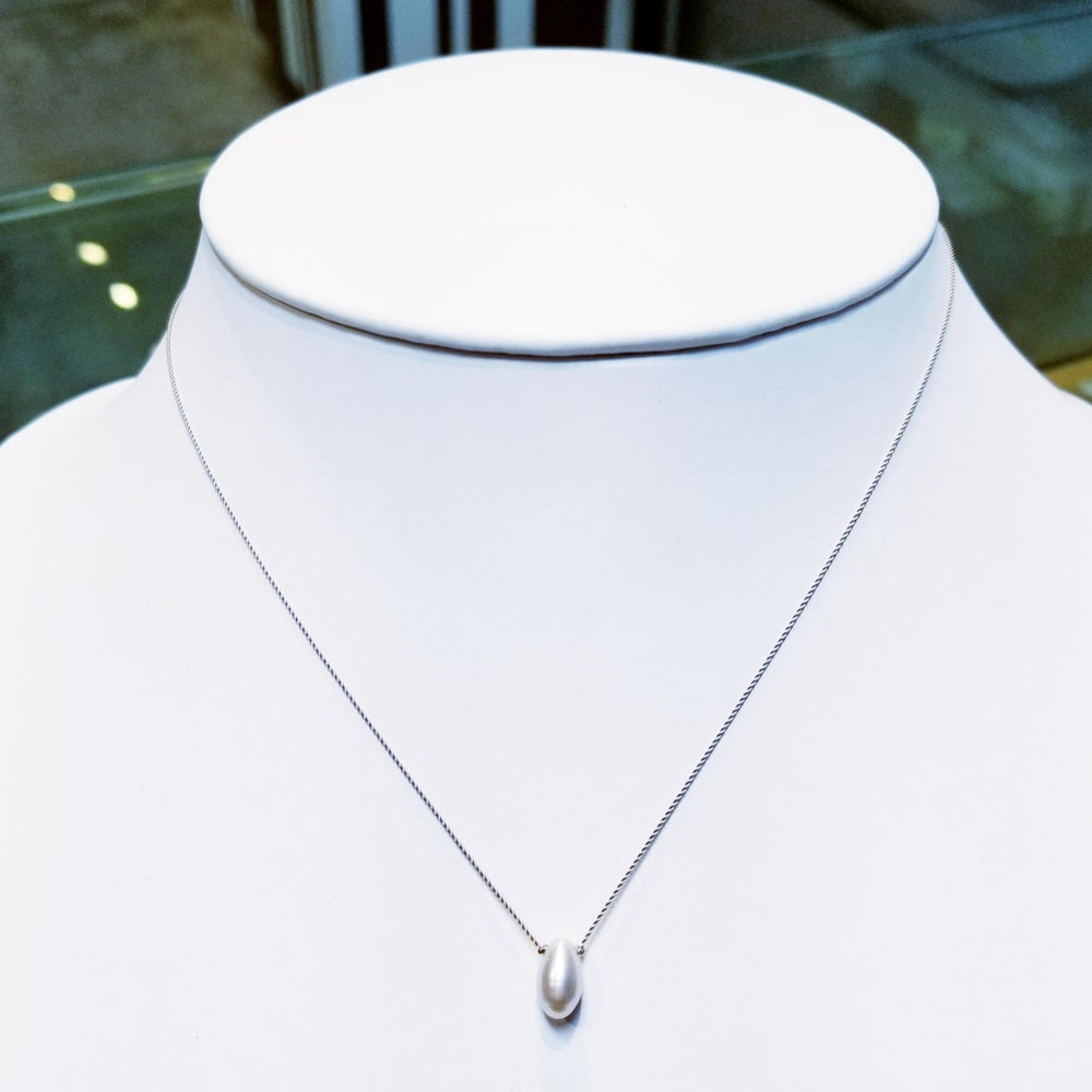 Image of Oval Pearl Whisper Necklace