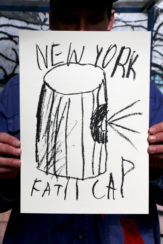 "Image of Tomasz Kaczyński ""New York Fat Cap"" (selfisz)"