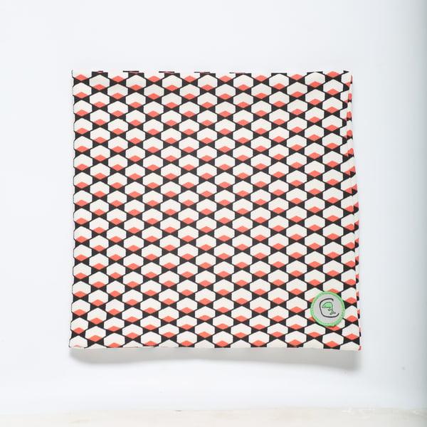 "Image of Cuello ""Geometric print"" coral / Buf ""Geometric print"" coral"