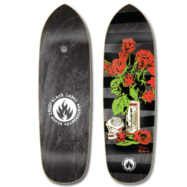 "Image of Jason Adams Slim ""Beer & Roses"" 8.68"" x 32.63"" 14.5"" Black stain"