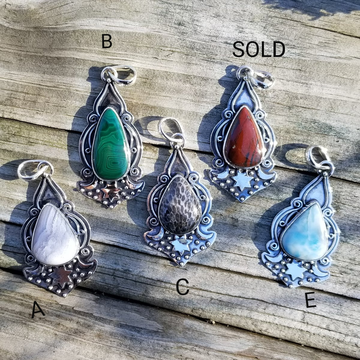 Image of Romany Pendant Collection in Sterling
