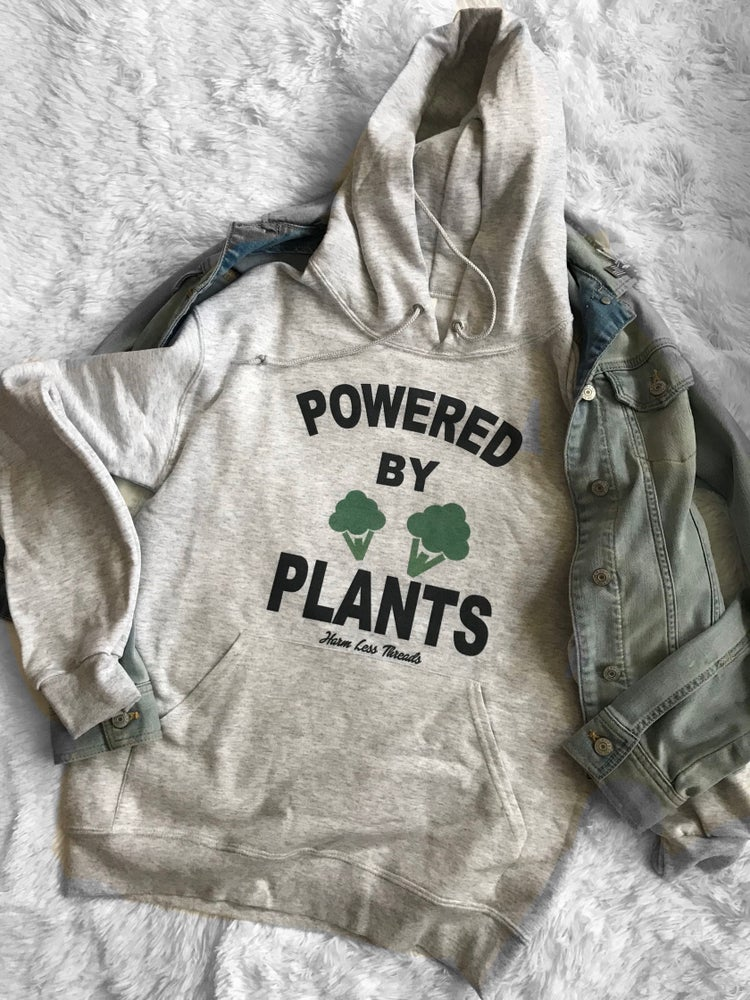 Image of Powered by plants unisex hoodie