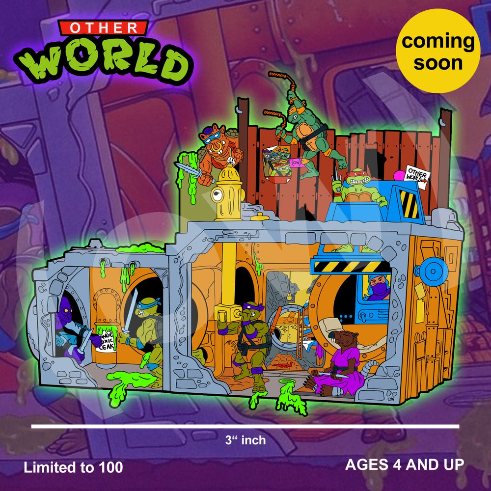 Image of TMNT Sewer Playset pin (PRE ORDER SLOT)