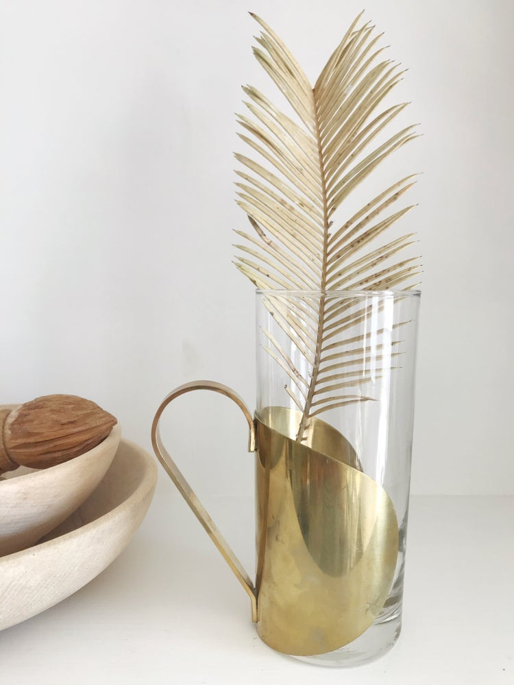 Image of Glass with Gold Sleeve