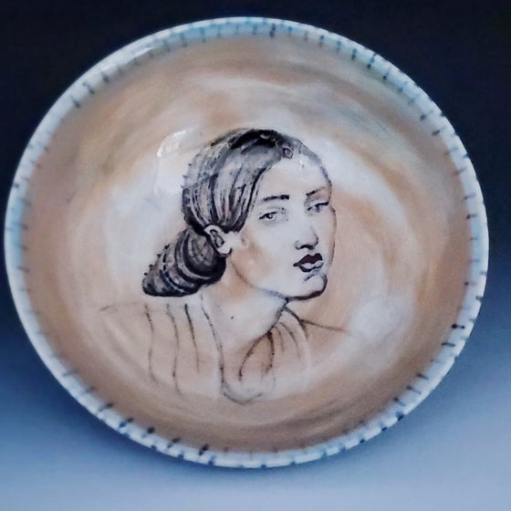 Image of Persephone Portrait Porcelain Bowl