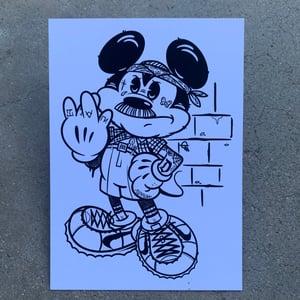 "Image of Cholo Mickey 5x7"" Print"
