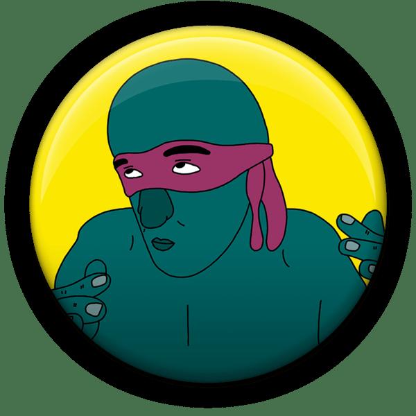 Green Lovers magnet set - Sick Animation Shop