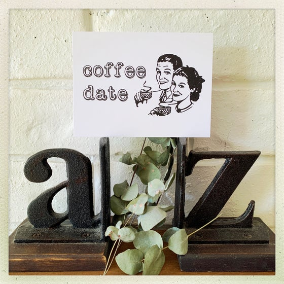 Image of coffee date postcard