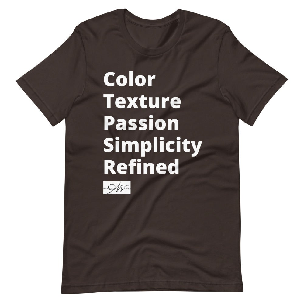Image of Color, Texture, Passion, Simplicity, Refined (TM)