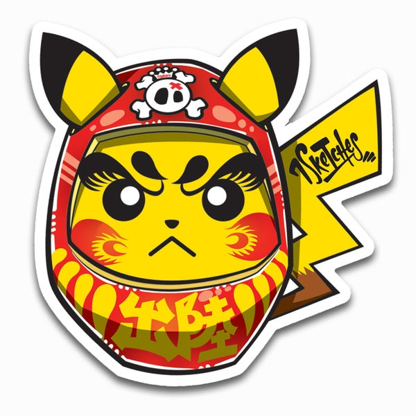 Image of Daruma Pika Sticker