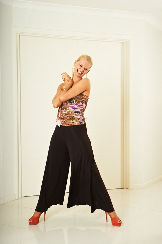 Image of Callot Pants B3180 PURPLE Dancewear latin ballroom