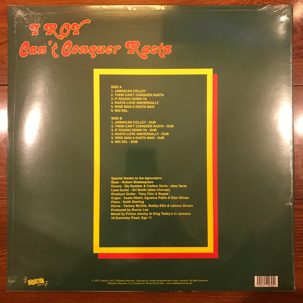 Image of I-Roy - Can't Conquer Rasta Vinyl LP