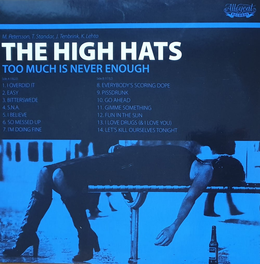 The High Hats - Too Much Is Never Enough (CD)