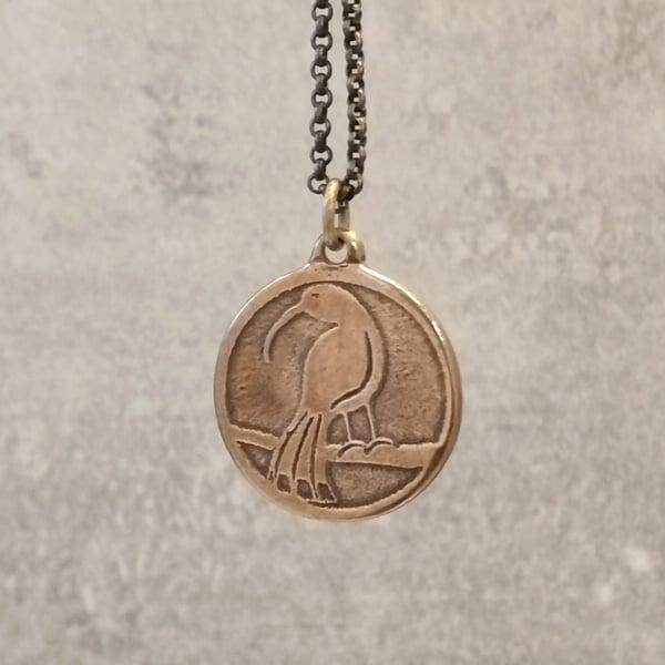 Image of Bronze Huia Pendant