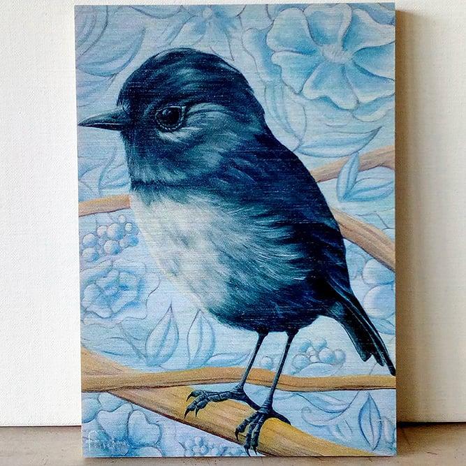 Image of Bluey Toutouwai, South Island Bush Robin