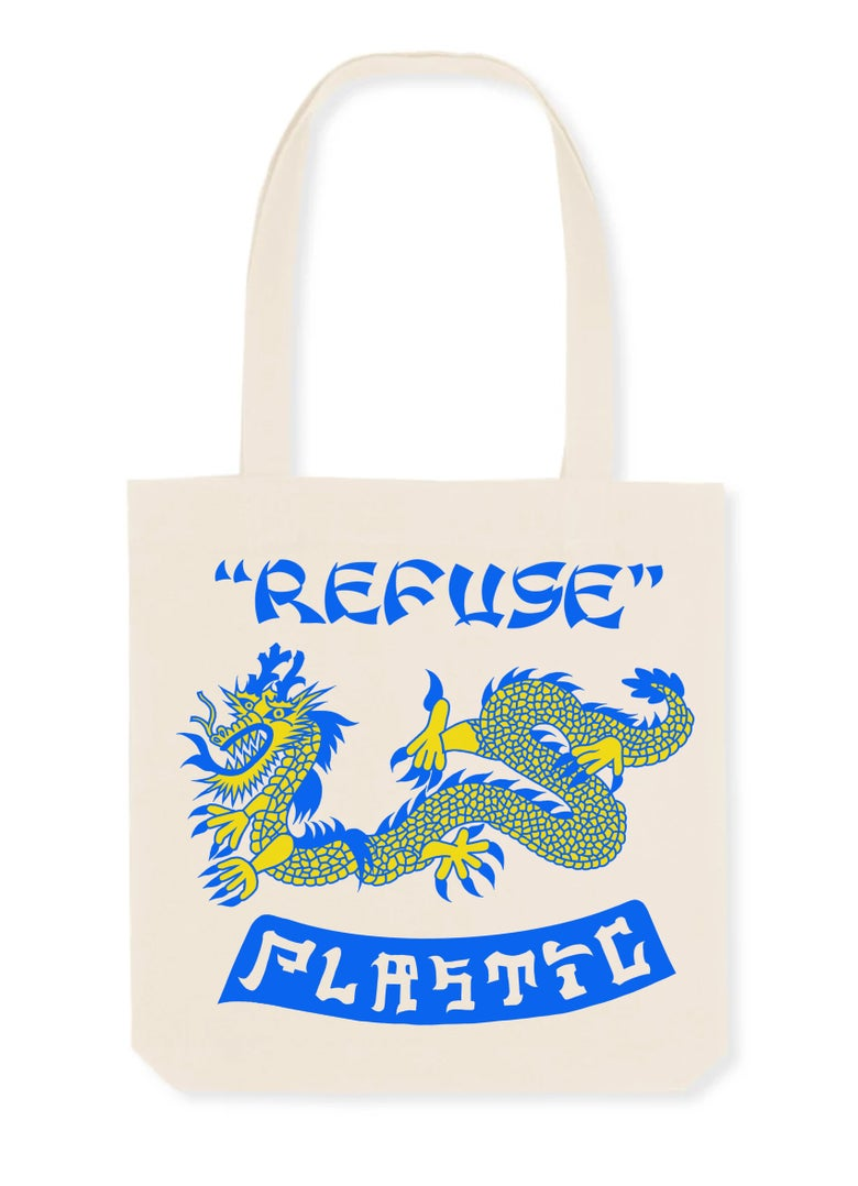 Image of Refuse plastic tote bag