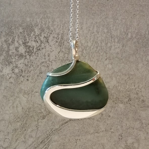 Image of Triangle Pounamu Beach Pebble Pendant