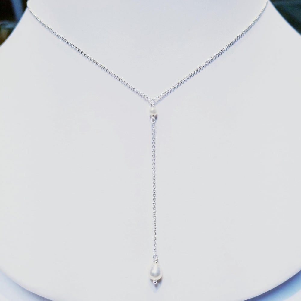 """Image of Rhodium (Or 14k Gold-fill) """"Y"""" Necklace"""