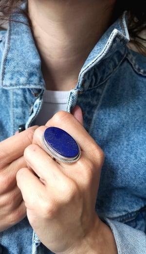 Image of Bague Lapis Lazuli - taille 54 - ref. 4479