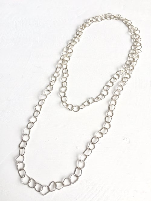 Image of Afiok long necklace no clasp series- sterling silver