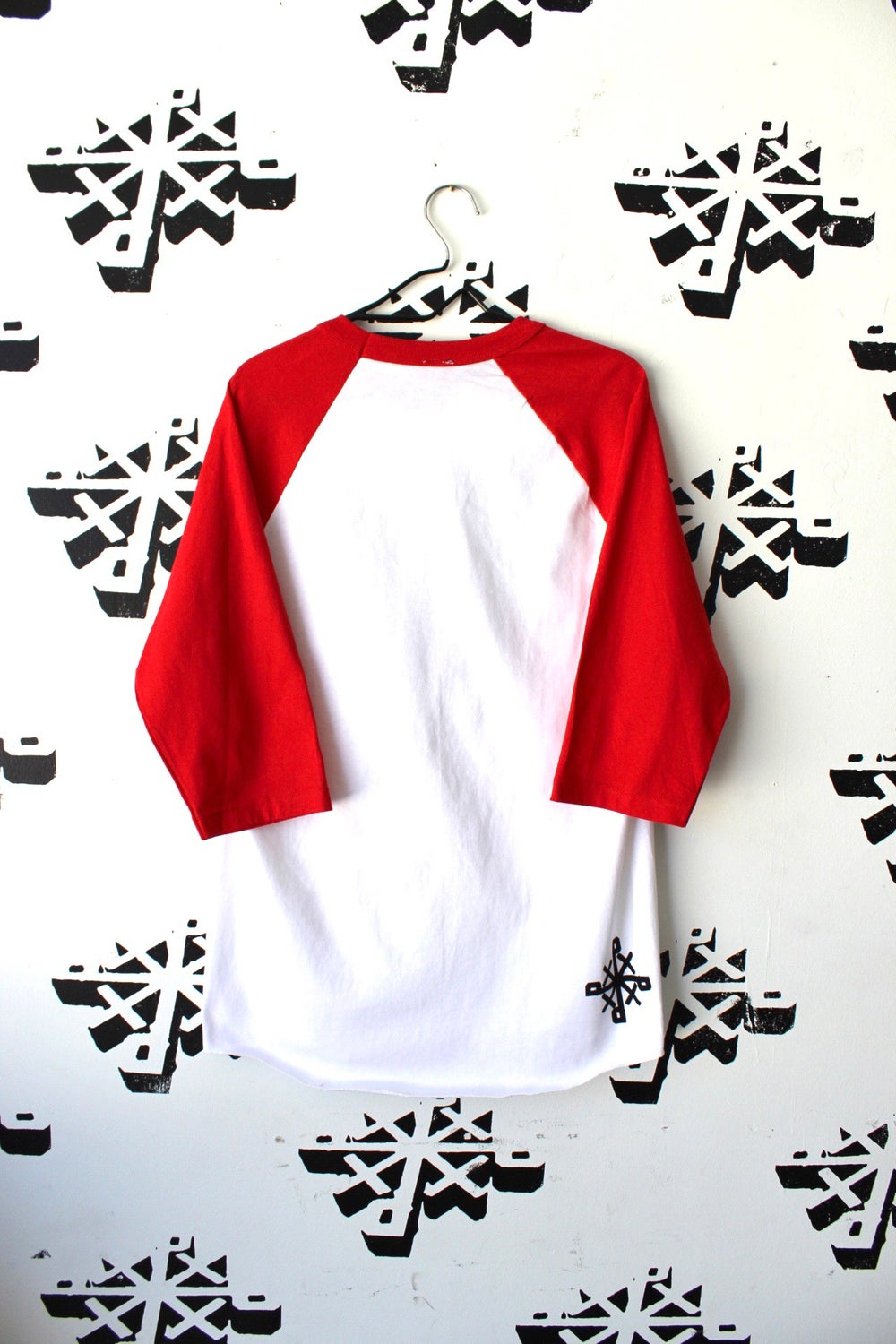 really the right channel raglan in red and white