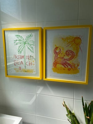 Image of Golden Crab Monoprint by Charlie Evaristo-Boyce