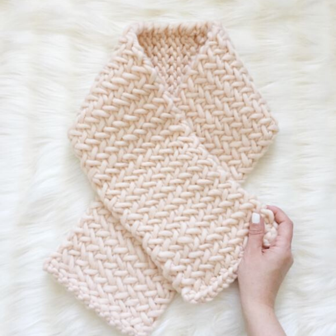 Image of Herringbone Scarf Knitting Pattern